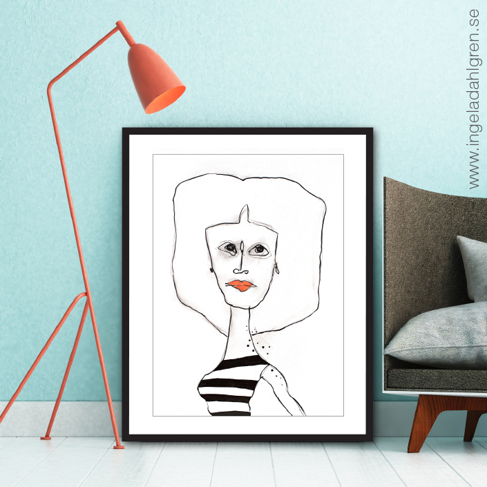 Less is beautiful - Artprint